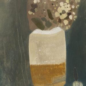 Hydrangea and Japanese style vase