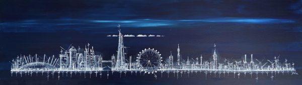 London Skyline at Midnight